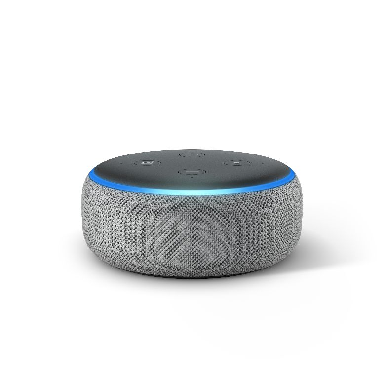 Echo Dot, Heather Gray, Front On.jpg