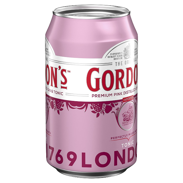 Premium Pink Distilled & Tonic Water Mix-Getränk von Gordon's Gin