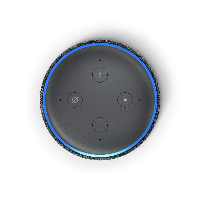 Echo Dot, Charcoal, Top.jpg