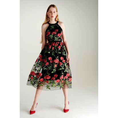 Embroidered rose dress with cut out waist detail 135 _ 150Euro.jpg