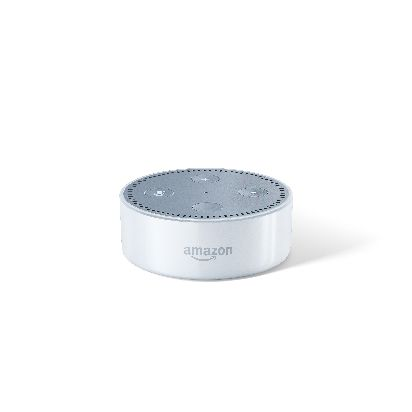 Echo Dot-White, Low Angle, Front.jpg