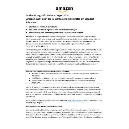 pm_amazon sucht noch bis zu 500 saisonarbeitskr fte - Amazon Online Bewerbung