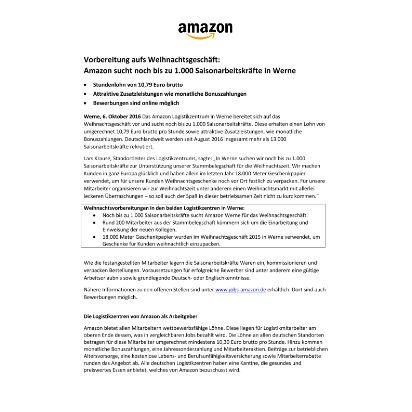 pm_amazon sucht noch bis zu 1000 saisonarbeitskr fte - Amazon Online Bewerbung