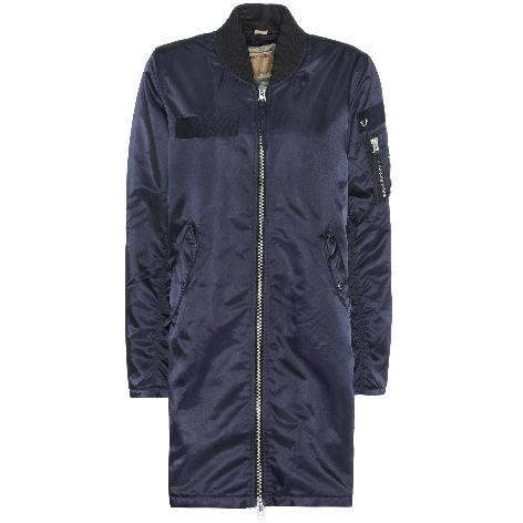 True Religion Damen Jacke Long Bomber Nightblue